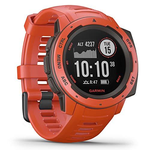 Garmin Instinct Sport-Smartwatch (wasserdicht, Smartphone-Benachrichtigungen, Sport-/Fitnessfunktionen, GPS, 14 Tage Akkulaufzeit)