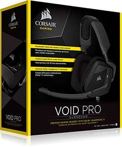 CORSAIR VOID PRO SURROUND Gaming Headset Dolby 7.1 Surround Sound for PC PS4