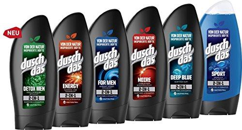 Verschiedene Sorten im Angebot Duschdas 2-in-1 Duschgel & Shampoo,(6 x 250 ml)