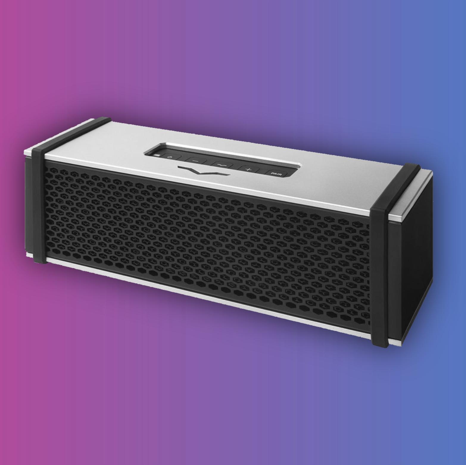 V-Moda Remix: Bluetooth Lautsprecher mit Kopfhörerverstärker (10h Akku, Dual-Treiber, Mikrofon)