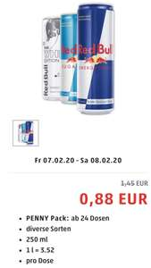 Red Bull ab 24Stk. 0,88c - Framstag bei Penny