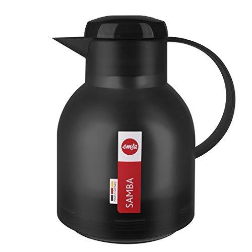 Emsa 504235 Samba Isolierkanne (1 Liter, Quick Press Verschluss, 12h heiß, 24h kalt)