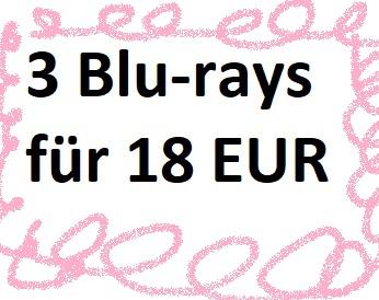 3 Blu-rays für 18 EUR - 582 Filme - Laufzeit: 03.02. - 09.02.2020