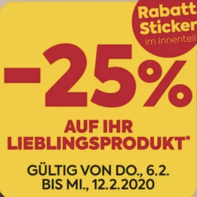 -25% Sticker bei Billa