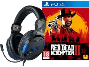 Red Dead Redemption 2 PS4 + BigBen Stereo Gaming Headset V3