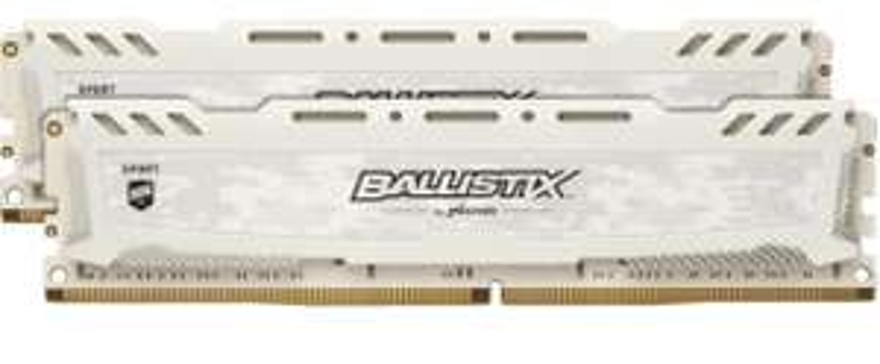 Crucial Ballistix Sport LT weiß DIMM Kit 16GB, DDR4-3000, CL15-16-16 (BLS2K8G4D30AESCK)