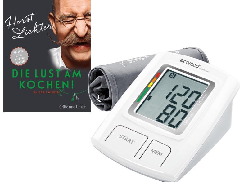MEDISANA Oberarmblutdruckmesser 23205 BU92 ECOMED + Kochbuch