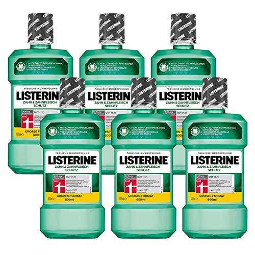 """6x Listerine """"Zahn- und Zahnfleischschutz"""" Antibakterielle Mundspülung"""