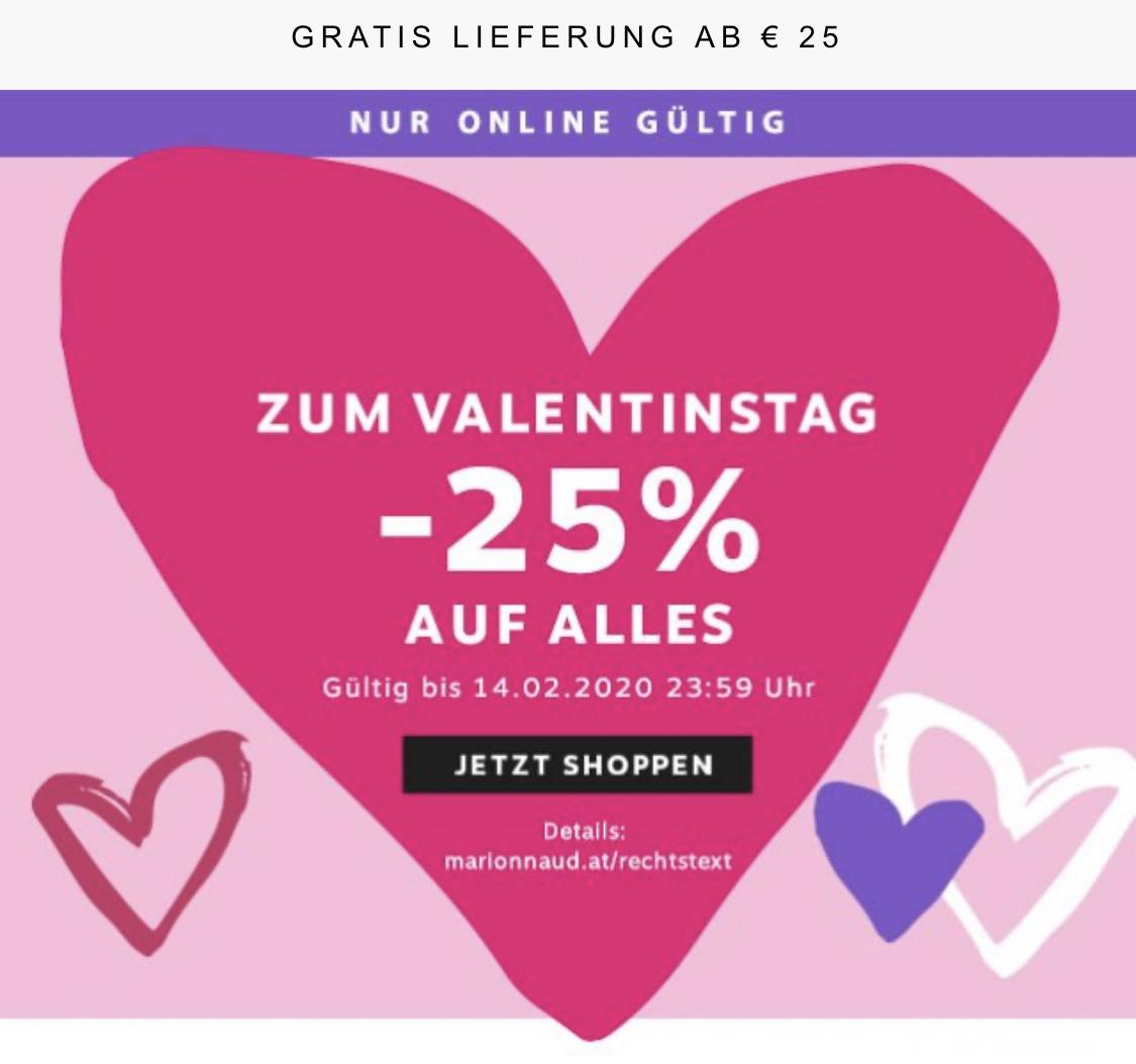 Marionnaud - 25% auf Alles - bis 14.2.2020