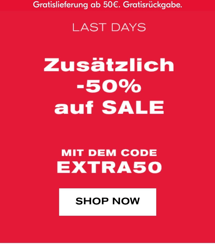 Tally Weijl: 50% Zusatzrabatt auf Sale Artikel