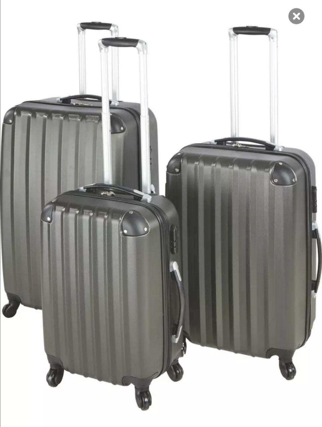 3-teiliges Reisekofferset Hartschale Jumbo