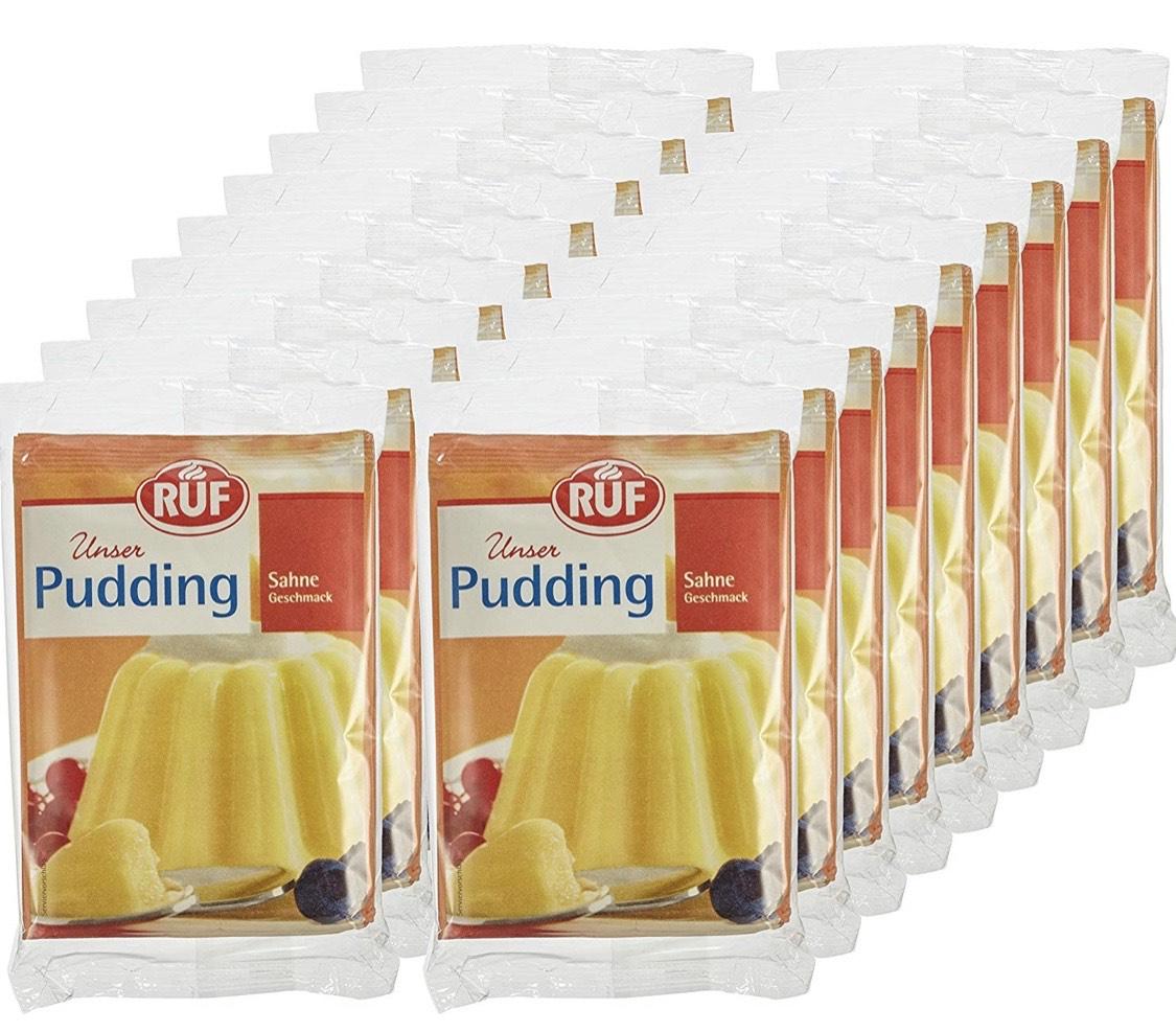 RUF Pudding Sahne, 18er Pack (18 x 114 g) 54 Stück