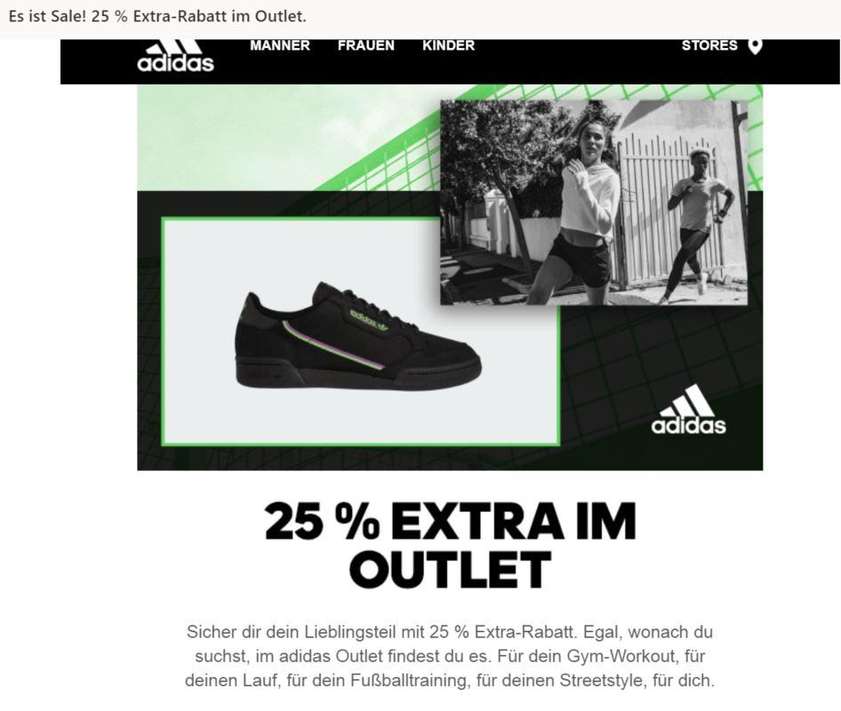 25% Extrarabatt auf alle reduzierten Adidas Originals