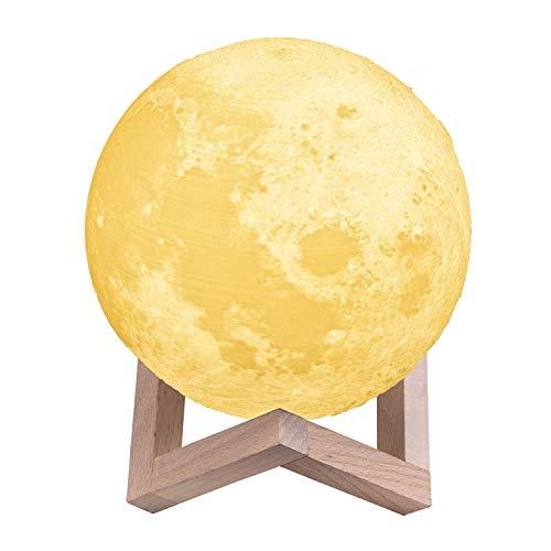 Mondleuchte TT-SL010 - 3D-gedruckt (PLA), Durchmesser: 15cm, Warm/Kalt/Neutralweiß