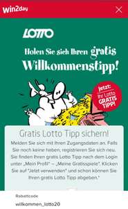 win2day.at -1,20€ bzw. GRATIS LOTTO TIPP