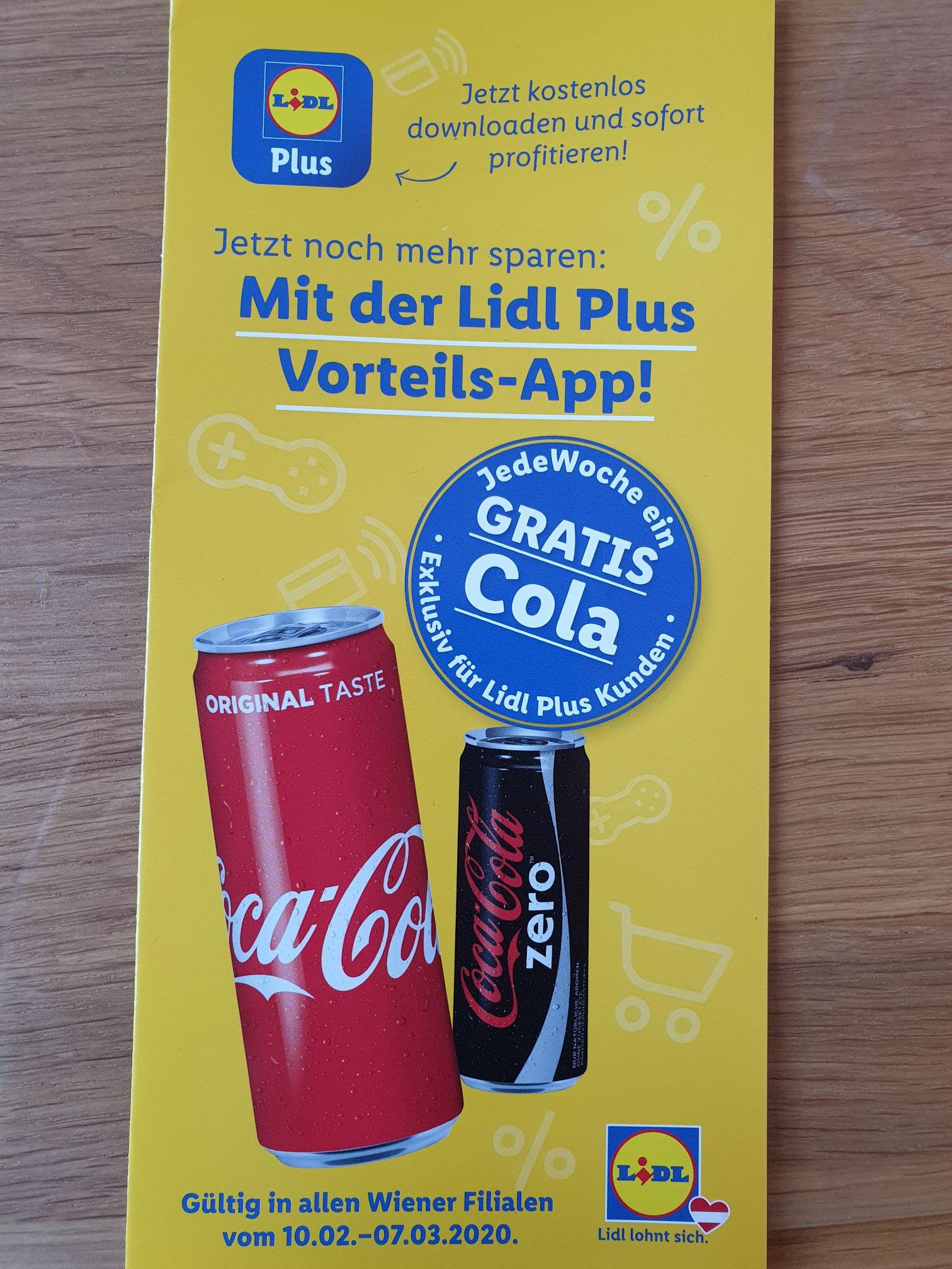 [Lidl] Cola Dose GRATIS - Jede Woche