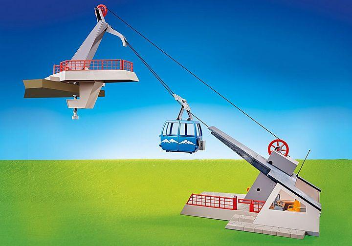 Playmobil Seilbahn mit Bergstation