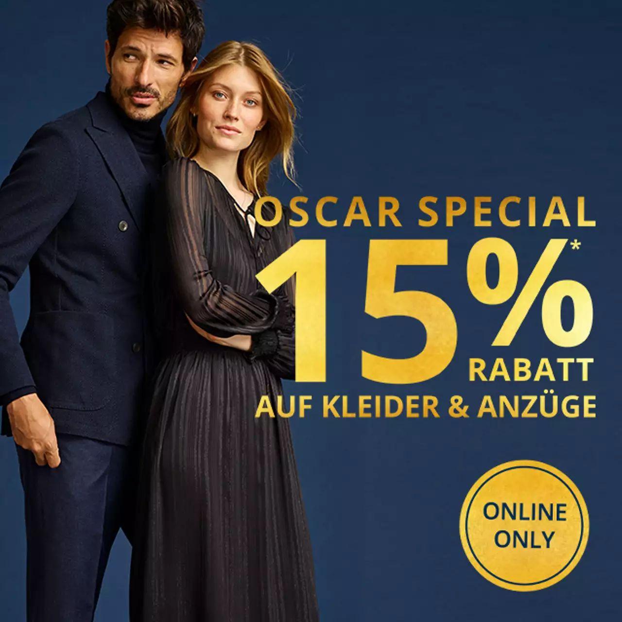 Peek & Cloppenburg: 15% Rabatt auf Kleider und Anzüge