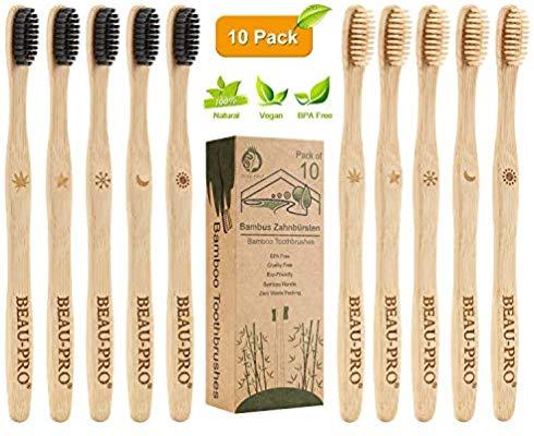 [Amazon] 10 STK. Bambus Zahnbürsten