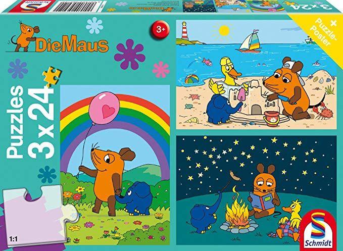 Schmidt Spiele Mouse TV Puzzle 56212 (3x 24 Teile)