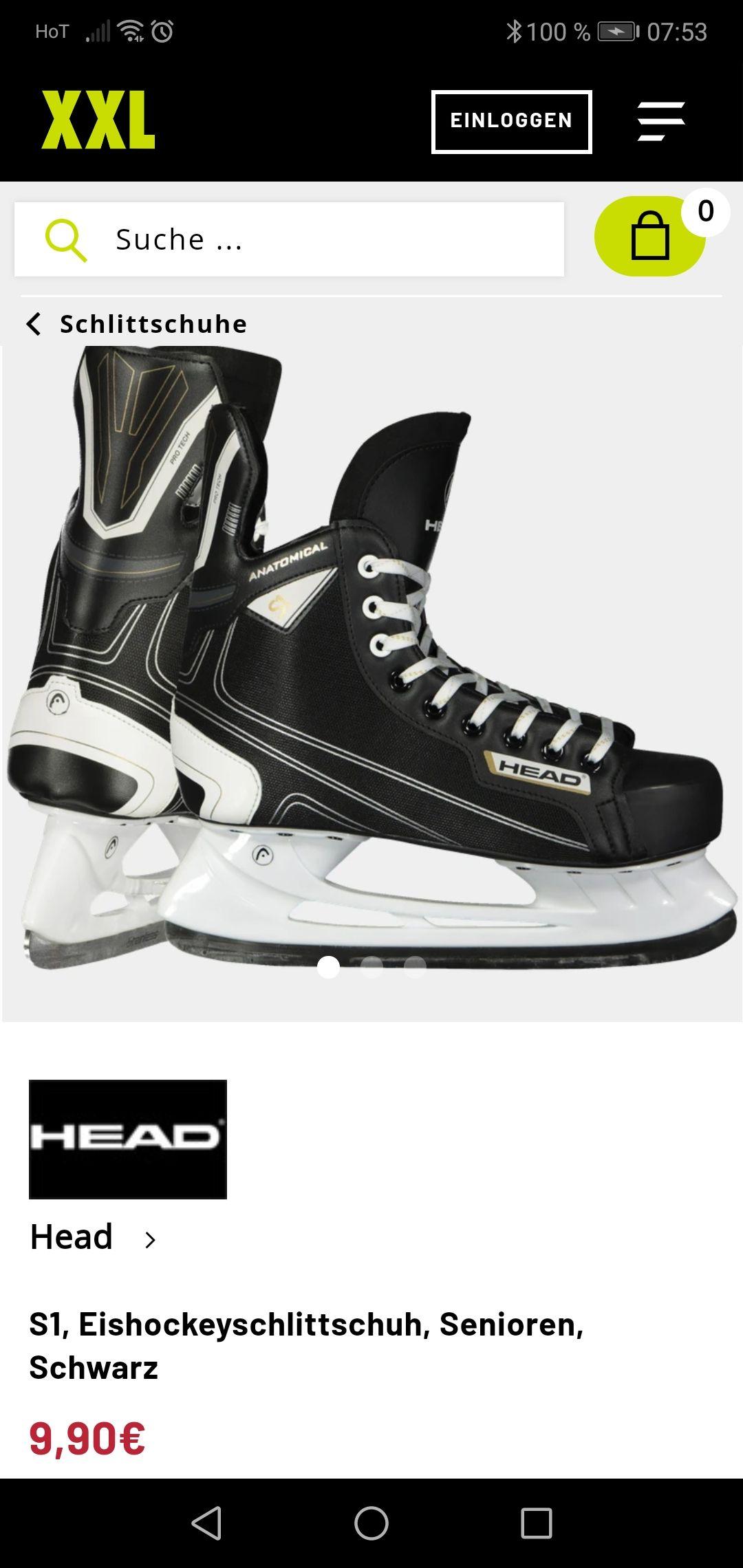 XXL Sports Head hockey schlittschuhe um 9.90