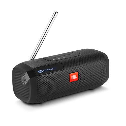 JBL Tuner Radiorekorder - Tragbarer Bluetooth Lautsprecher mit DAB+ und UKW Radio - MP3 fähige Musikbox Bestpreis um 65€