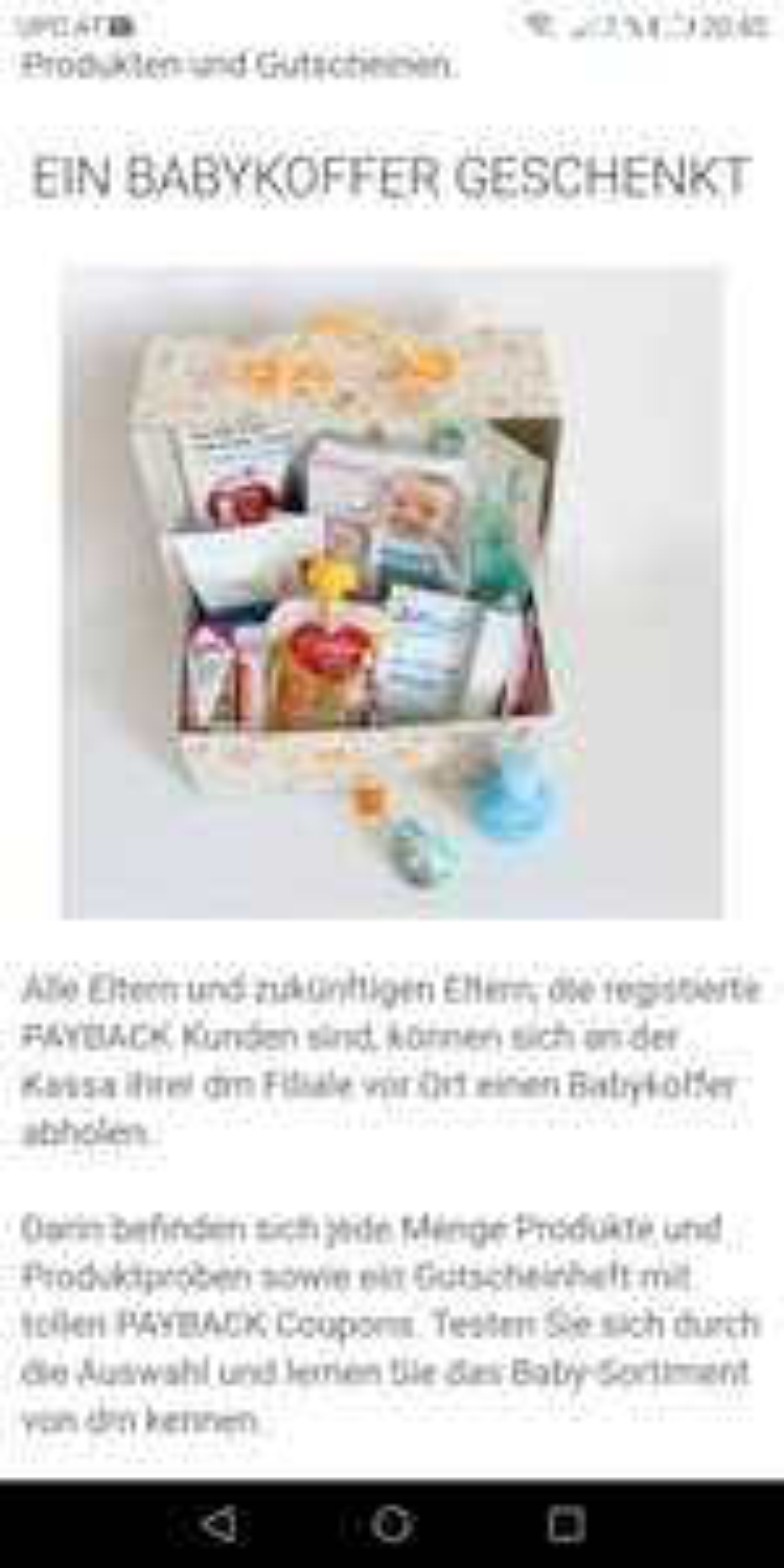 DM Gratis Baby Koffer