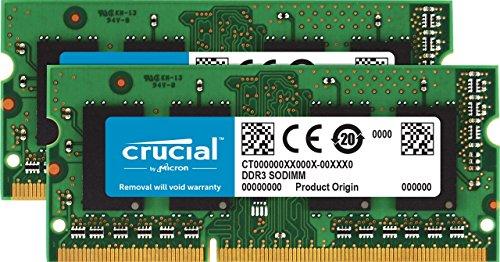 Crucial CT2K102464BF186D 16GB (8GBx2) Speicher Kit (DDR3, 1866 MT/s, PC3-14900, SODIMM, 204-Pin)