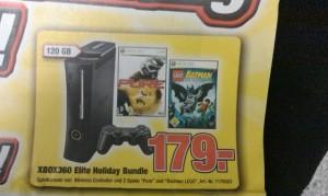 Direkt bei Promarkt das Xbox 360 Elite Holiday Bundle (2 Spiele) für 179€