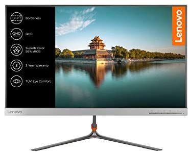 Lenovo L24q-10 60,45 cm (23,8 Zoll QHD IPS matt) Monitor (HDMI, DisplayPort, 4ms Reaktionszeit) silber