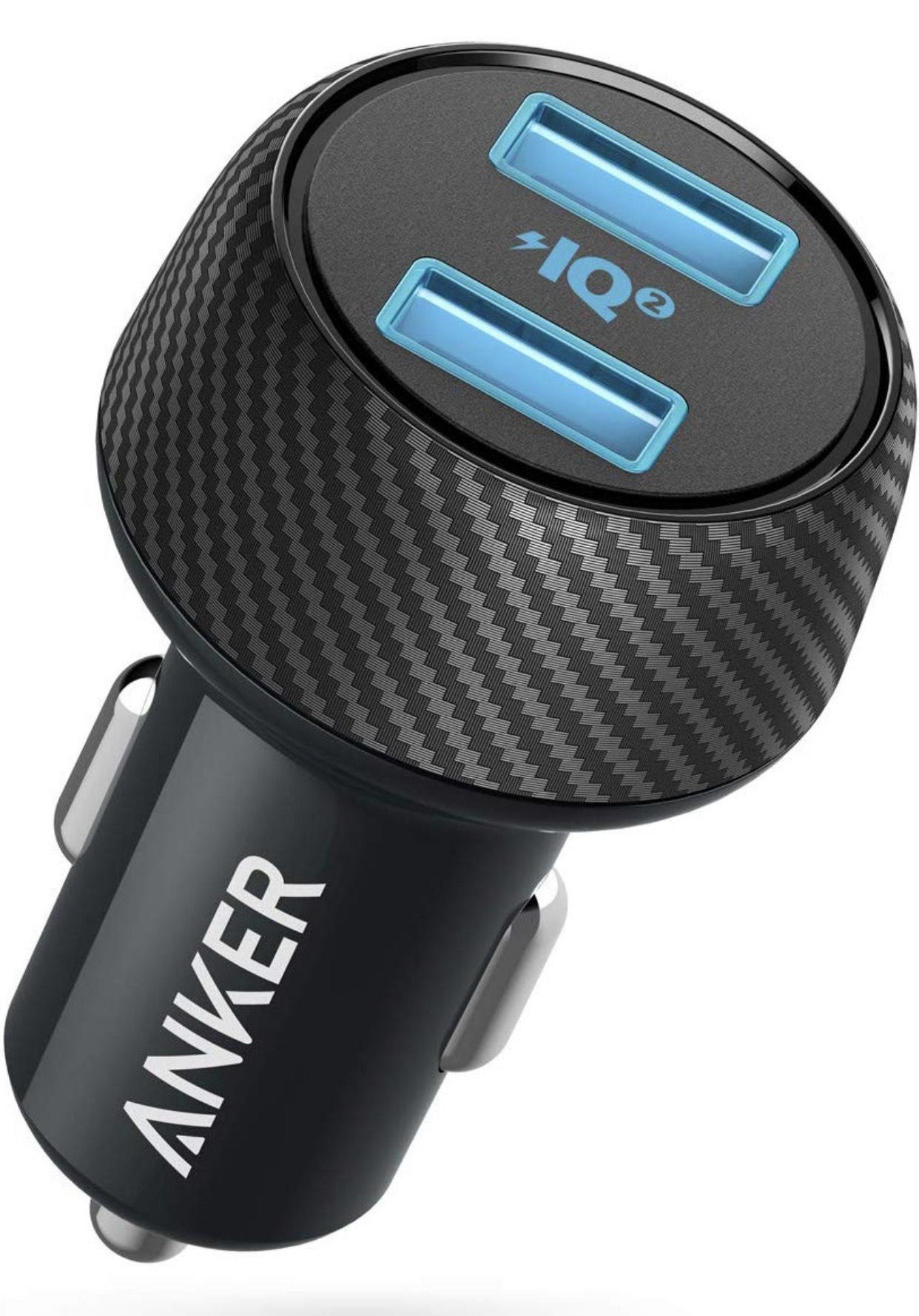 Anker Auto Ladegerät PowerDrive Speed 2 30W Dual Port USB Ladegerät mit PowerIQ 2.0