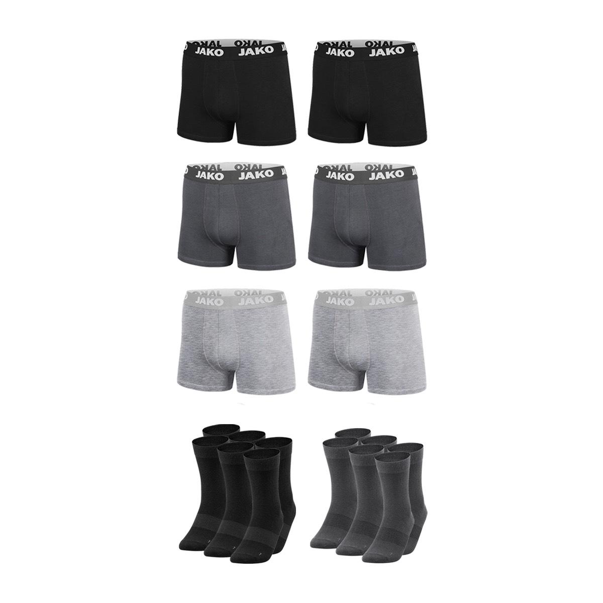 Jako Unterwäsche Set (6 Boxershorts & 6 Paar Socken)