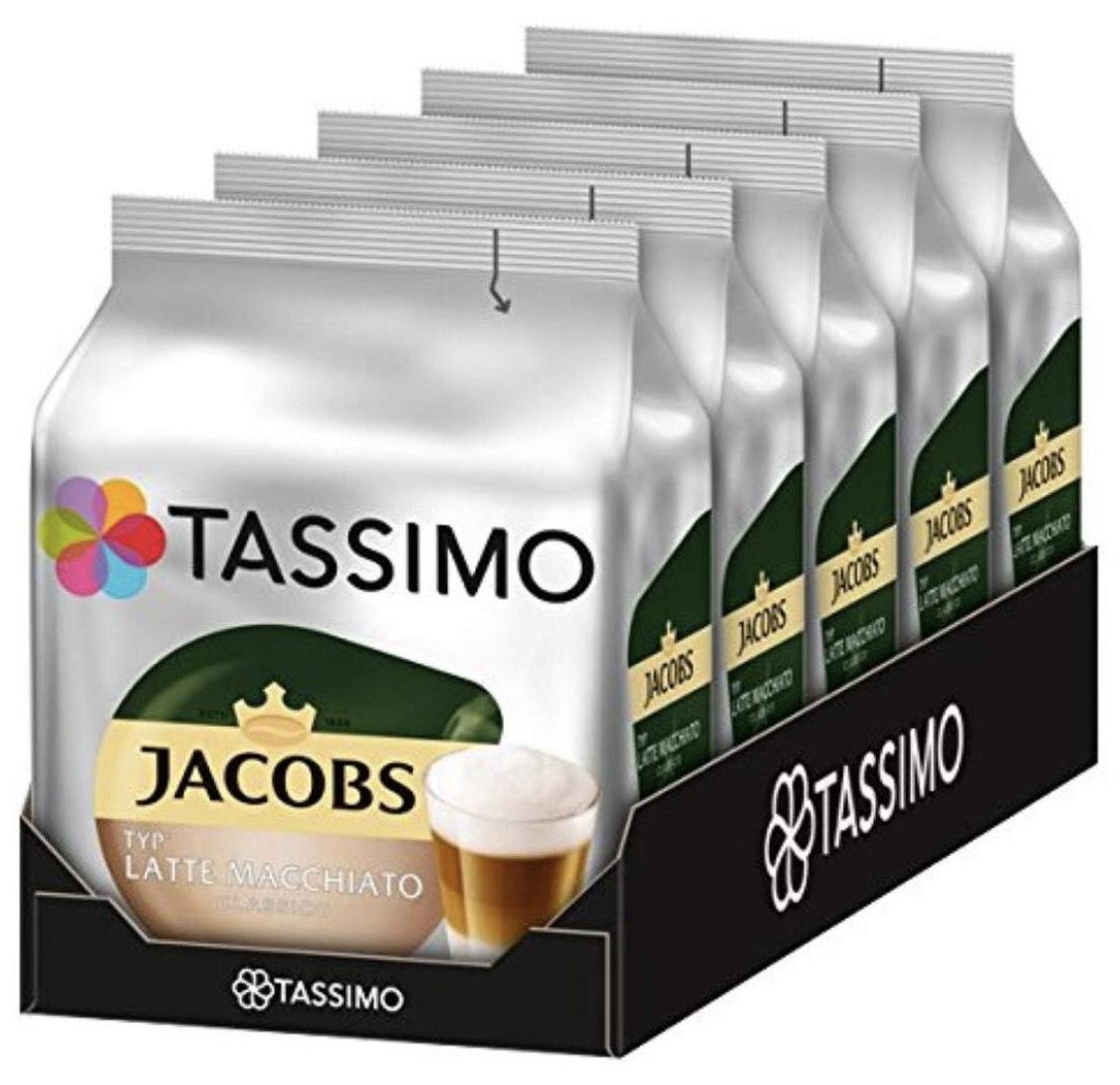 Tassimo Kapseln Jacobs Typ Latte Macchiato Classico, 40 Kaffeekapseln, 5er Pack, 5 x 8 Getränke