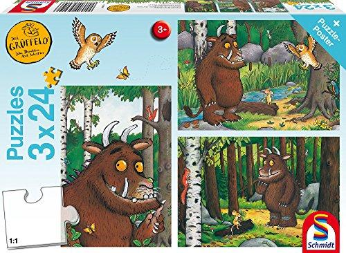 Schmidt Spiele Puzzle 56210, Der Grüffelo, 3 x 24 Teile