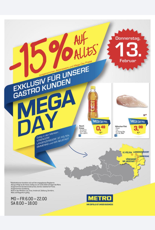 Metro Mega Day -15% auf alles*