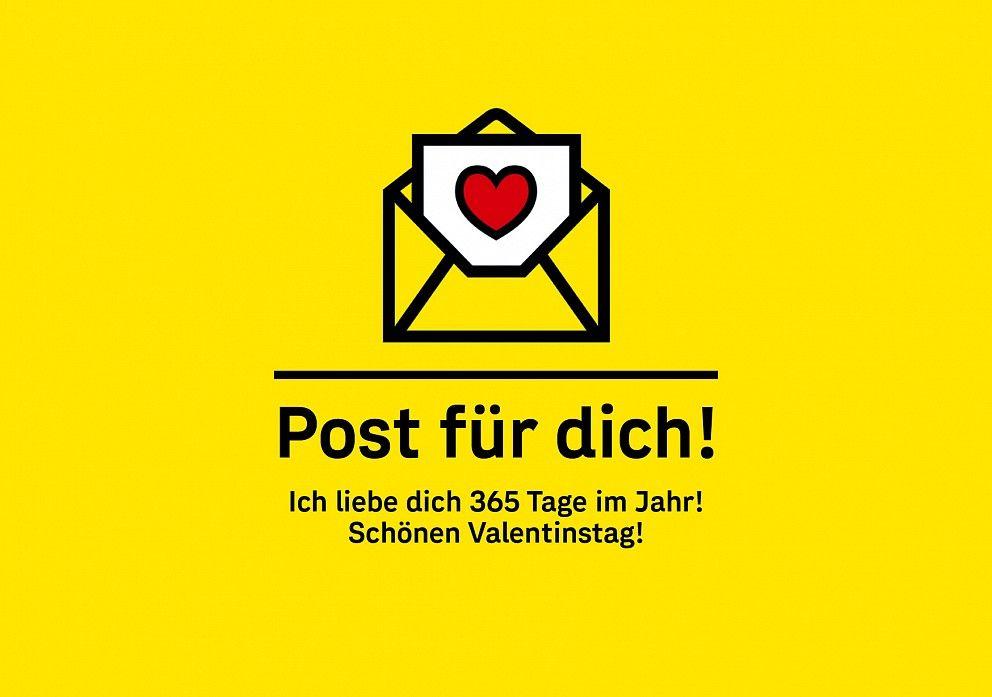 Post: Gratis Postkarte am Valentinstag