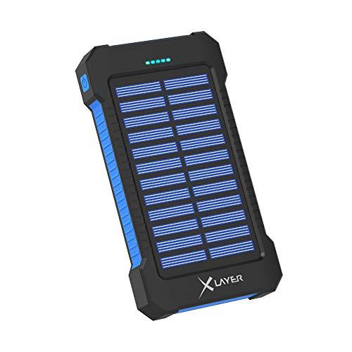 Xlayer Powerbank mit Solarpanel und Taschenlampe 8000 mAh