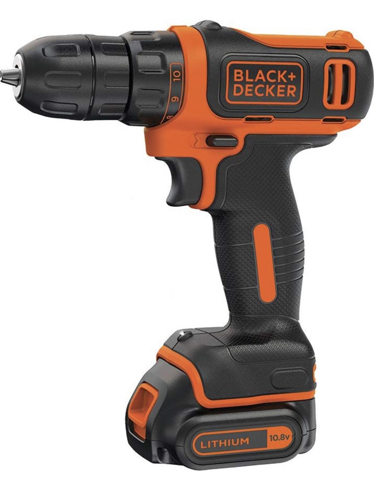 Black & Decker BDCDD12 Akku-Bohrschrauber inkl. 1.5Ah Akku und Ladegerät