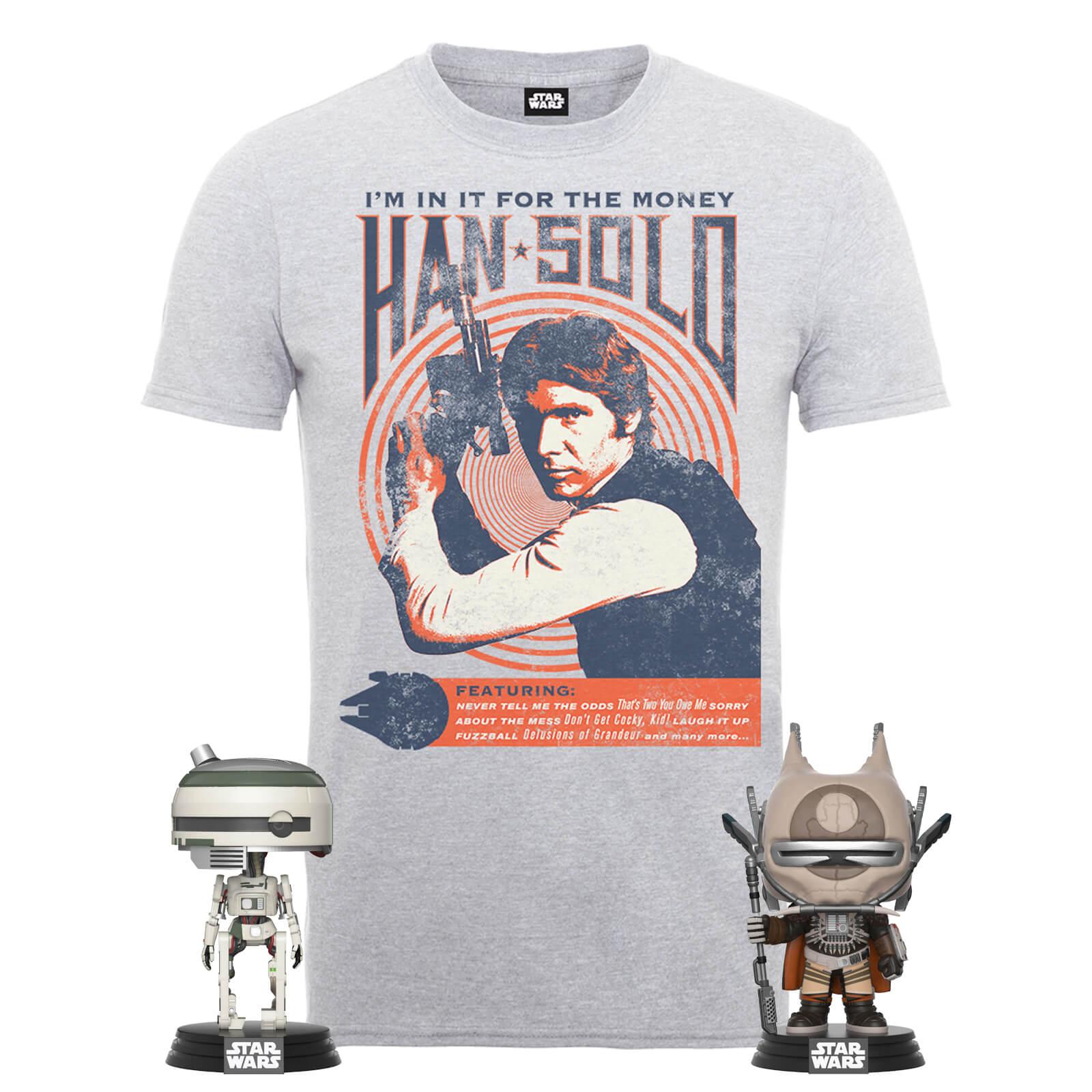 Han Solo Shirt und 2 Pop! Figuren