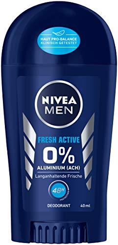 10 NIVEA MEN Fresh Active Deo Stift, ohne Aluminium, Deodorant Stick mit 48h Schutz, 40 ml [5 Sparabos, sonst 9,60€]