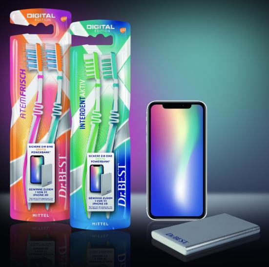 Dr. BEST Zahnbürsten kaufen und eine kostenlose Powerbank erhalten + Chance auf ein Iphone XR