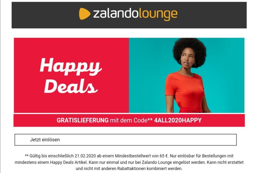 Gratis Lieferung bei Zalando Lounge ab 65€