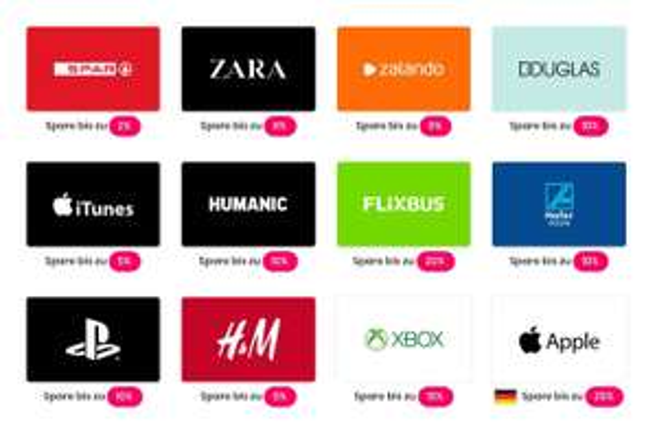 getCards: diverse Wertgutscheine vergünstigt online kaufen