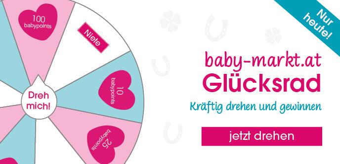 Jetzt neu: Auch auf babymarkt.at das Glücksrad drehen und BabyPoints sammeln