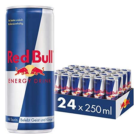 24 Red bull für 17,90 = 74 cent pro dose