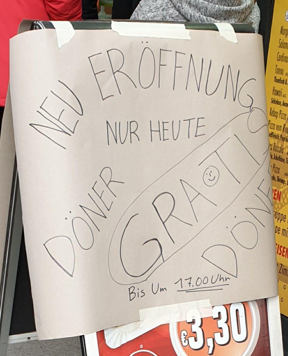 Gratis Döner Klosterneuburger Straße 52
