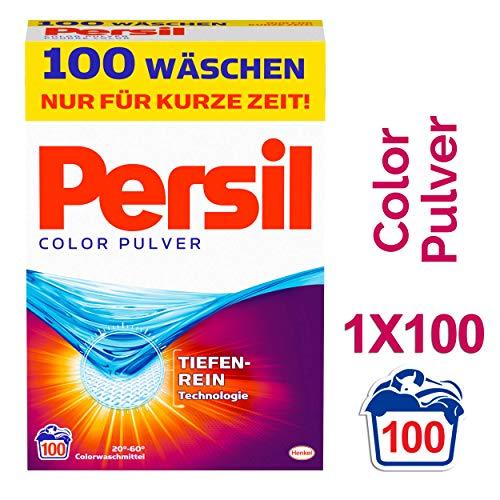 Persil Color Pulver, Waschmittel, 100 Waschladungen mit Tiefenrein-Technologie