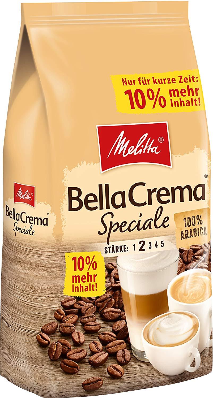 AMAZON.de l Melitta Ganze Kaffeebohnen, 100% Arabica, milder Geschmack, leichter Charakter, Stärke 2, BellaCrema Speciale, 1100g