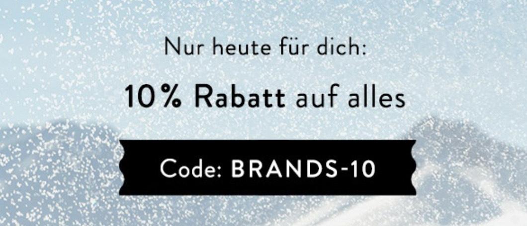 Brands4friends: 10% auf alles