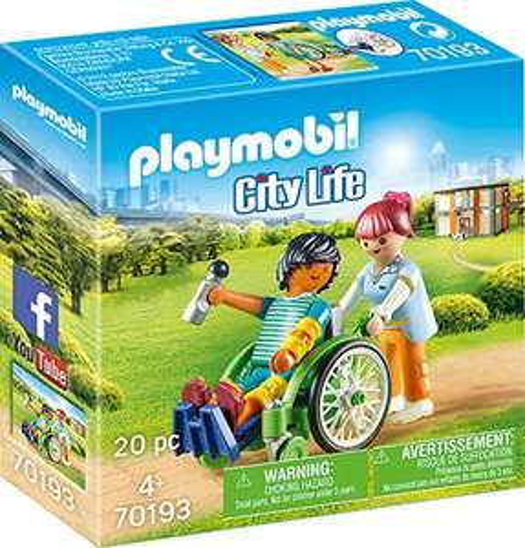 Playmobil City Life - Patient im Rollstuhl